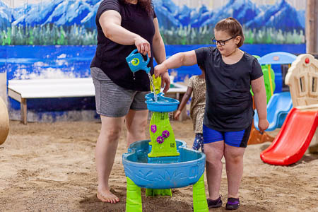 Playing with Water Table